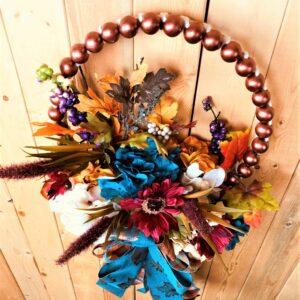 Fall Woden ball wreath